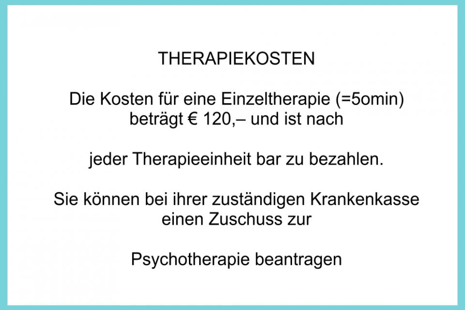 Kosten einer Psychotherapie